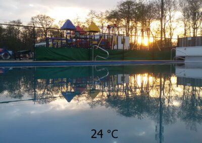 zwembad met graden